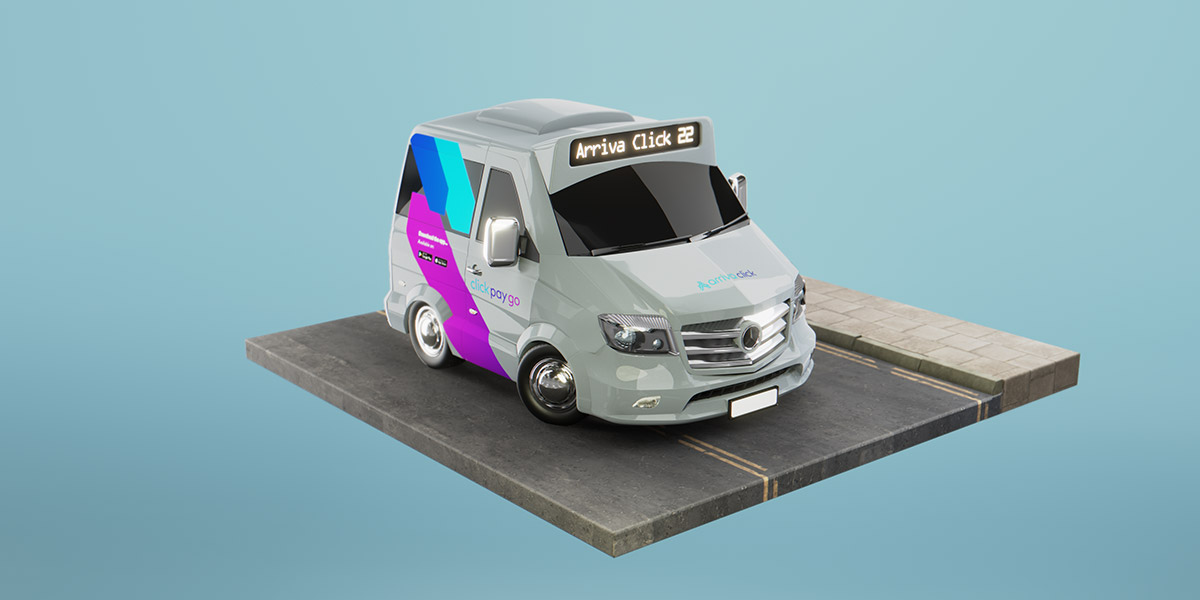 3D Render of a Small Van