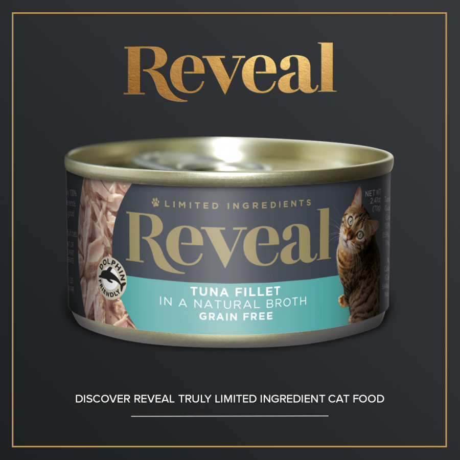 Reveal's very own limited ingredient cat food