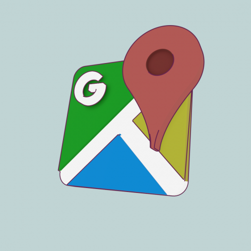Google maps rendered image